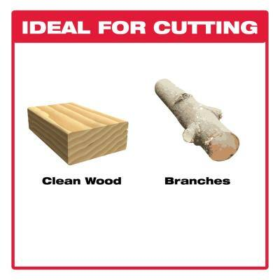9 in. Carbide Pruning and Clean Wood Cutting Reciprocating Saw Blade (2-Pack)
