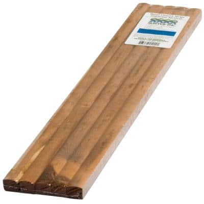 24 in. Universal Vertical Wood Closure Strips (5-Pack)
