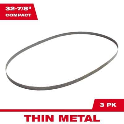 32-7/8 in. 18 TPI Compact Bi-Metal Band Saw Blade (3-Pack) For M18 FUEL Compact Bandsaw/Corded