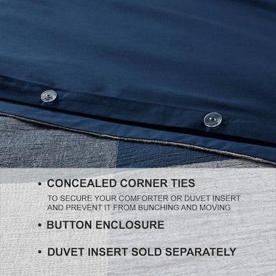 Ashdale 3-Piece Blue Plaid Duvet Cover Set