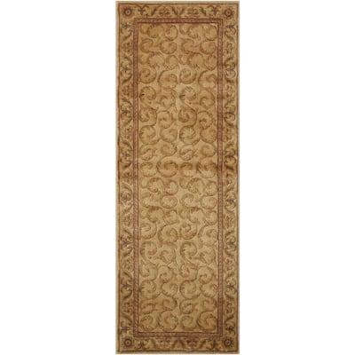 Somerset Ivory 2 ft. x 6 ft. Persian Vintage Runner Rug