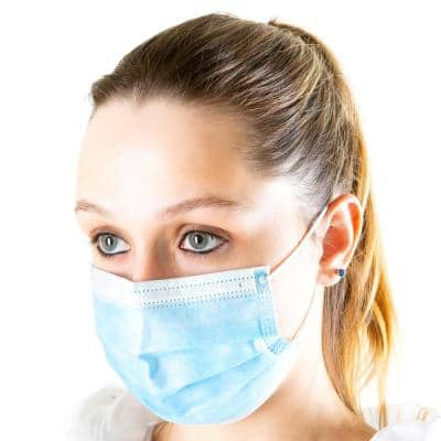 Disposable 3-Layer Face Mask (50-Pack)