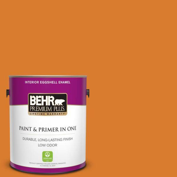Reviews For Behr Premium Plus 1 Gal 270b 7 Bonfire Eggshell Enamel Low Odor Interior Paint And Primer In One 230001 The Home Depot