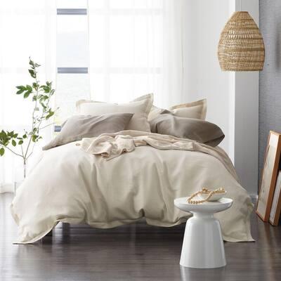 Solid Washed Linen Duvet Cover