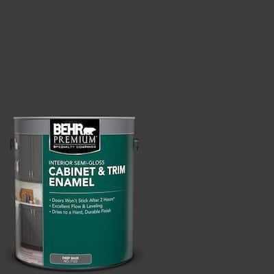 1 gal. Black Semi-Gloss Enamel Interior Cabinet and Trim Paint