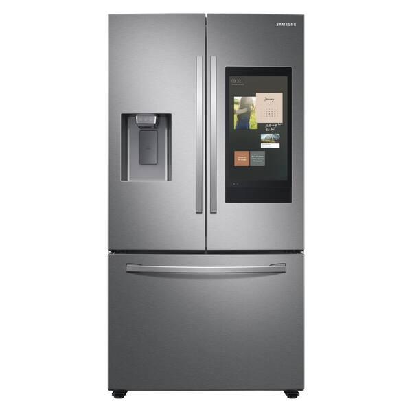 Samsung 26.5 cu. ft. Family Hub French Door Smart Refrigerator in Fingerprint Resistant Stainless Steel