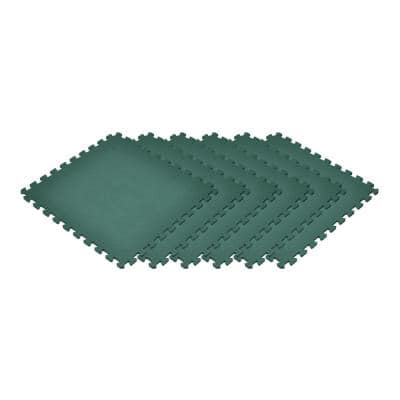 Dark Green 24 in. x 24 in. EVA Foam Non-Toxic Solid Color Interlocking Tile (30-Tile)