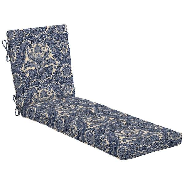 Hampton Bay Chelsea Damask Outdoor, Chaise Lounge Patio Chair Cushions