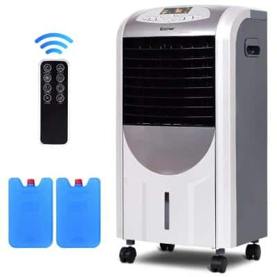 215 CFM 3-Speed Portable Evaporative Cooler Fan and Heater Humidifier with Washable Filter Remote Control