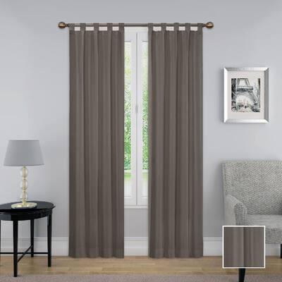 grey Solid Rod Pocket Room Darkening Curtain - 60 in. W x 63 in. L  (Set of 2)