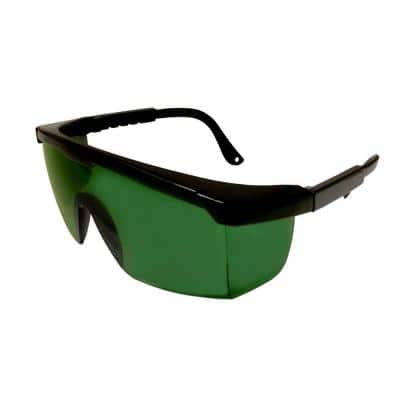 Retriever Welding Safety Glasses Single Green 5.0 Filter Lens with Integrated Side Shields and Extendable Templ