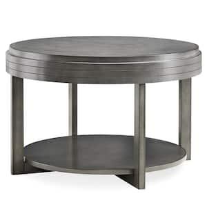30 in. x 30 in. Smoke Gray Round Condo/Apartment Coffee Table