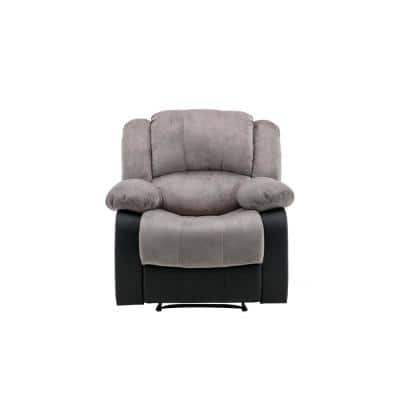 Aiden 34 in. Width Big and Tall Gray Microfiber Wall Hugger Recliner