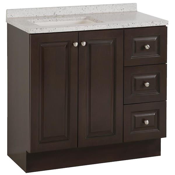 Glacier Bay Northwood 37 In W X 19, Bathroom Cabinet Home Depot