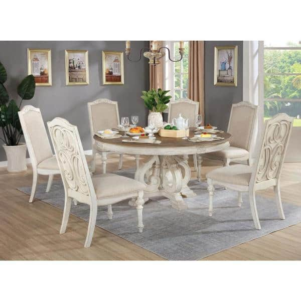Furniture Of America Willadeene Antique, Round Dining Table Sets