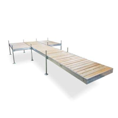 24 ft. L 8 ft. x 12 ft. Platform Style Aluminum Frame with Cedar Decking Complete Dock Package