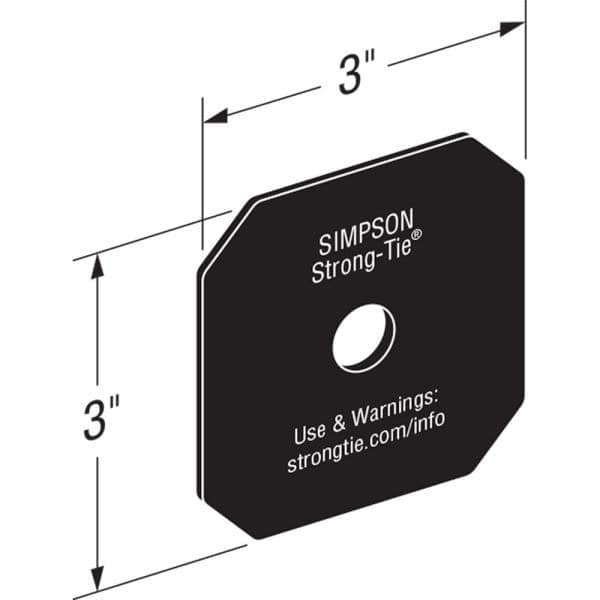 Simpson Strong Tie Outdoor Accents Avant Collection Z Max Black Powder Coated Decorative Washer Apvdw56 The Home Depot