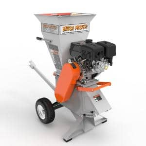 4 in. Dia feed 15 HP 420cc Commercial Duty Gas Chipper Shredder with Trailer Hitch, Gloves, Safety Goggles Included