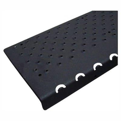 6 in. x 48 in. x 1.25 in. Non-Slip Aluminum Nosing, Black