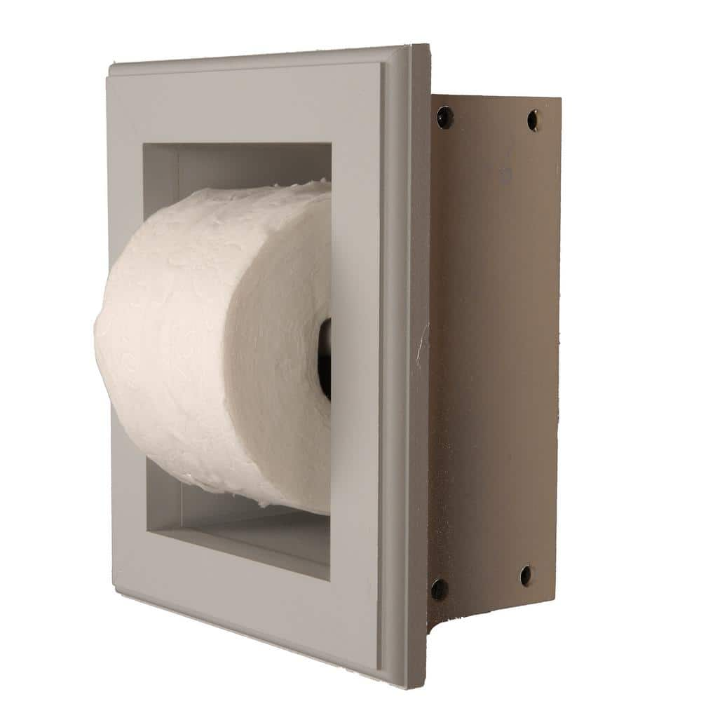 Newton Recessed Toilet Paper Holder 16 Holder In Primed In Niche Frame In Gray Tp 16 Primed The Home Depot