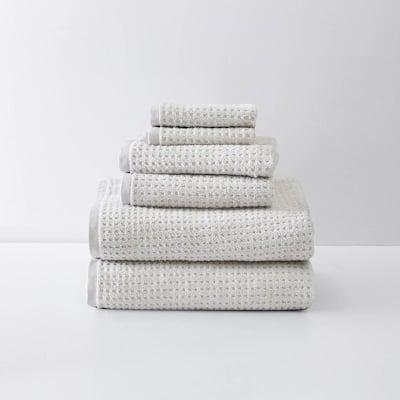 Northern Pacific 6-Piece Beige Cotton Towel Set