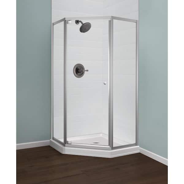 H Framed Corner Shower Kit, Corner Shower Glass Doors Home Depot