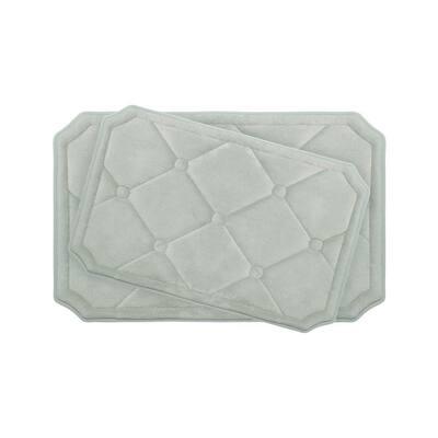 Gertie Light Gray Memory Foam 2-Piece Bath Mat Set