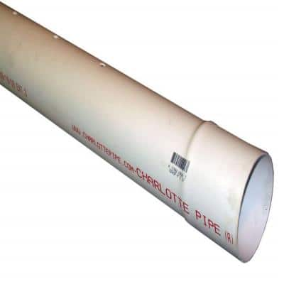 4 in. x 10 ft. PVC 2729 Perforated Pipe