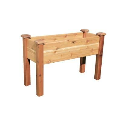 48 in. x 18 in. Unfinished Cedar Elevated Garden Bed