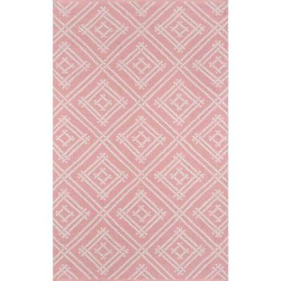 Palm Beach Everglades Club Pink 7 ft. 6 in. x 9 ft. 6 in. Indoor Outdoor Area Rug