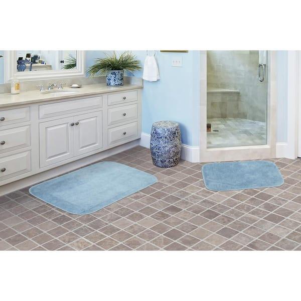 Garland Rug Traditional Basin Blue 2 Piece Washable Bathroom Rug Set Ba010w2p04j4 The Home Depot