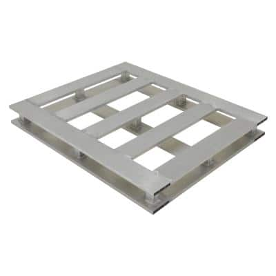 4-Way 48 in. x 48 in. Heavy-Duty Aluminum Pallet
