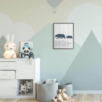 "16 in. x 20 in. ""Kids Inspirational Word Boys Bear Family"" by Daphne Polselli Framed Wall Art"
