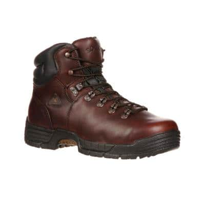 Men's Mobilite Waterproof 6 inch Lace Up Work Boots - Soft Toe - Brown Size 9.5 (M)