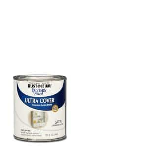 32 oz. Ultra Cover Satin Blossom White General Purpose Paint (Case of 2)