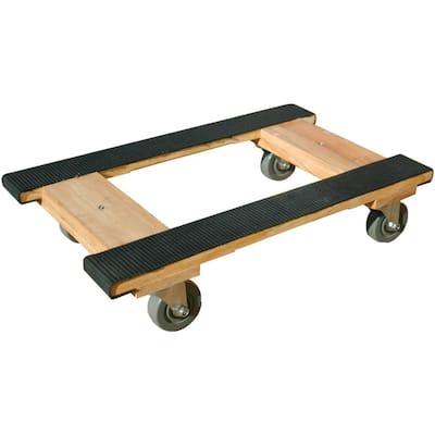 800 lb. Capacity Wood 4-Wheel Piano H Dolly