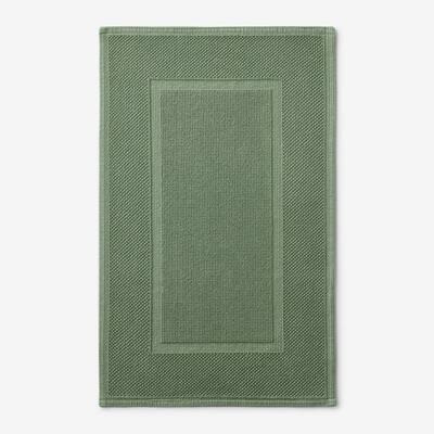 Legends Luxury Sterling Loden Green 34 in. x 21 in. Cotton Bath Mat