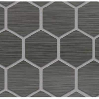 Metro Gris Hexagon mosaic adds a dash of contemporary style