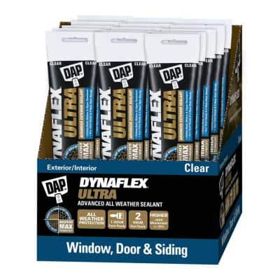 Dynaflex Ultra 5.5 oz. Clear Advanced Exterior Window, Door, and Siding Sealant (15-Pack)