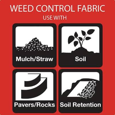 4 ft. x 300 ft. PolySpun 300 Premium Contractor Grade Landscape Fabric Weed Barrier, Heavy-Duty