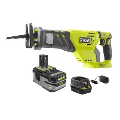18V ONE+ Lithium-Ion Brushless Cordless Reciprocating Saw Kit with 4.0 Ah LITHIUM+ HP Battery and Charger