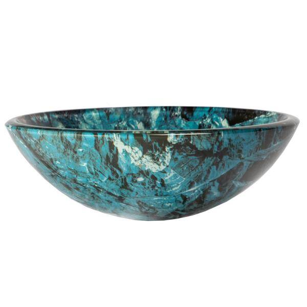 Eden Bath Cliffside Glass Vessel Sink In Multi Colors Eb Gs30 The Home Depot