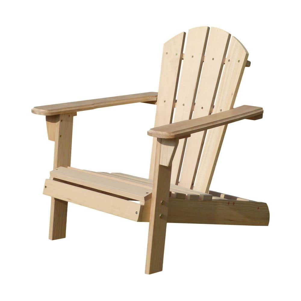turtleplay unfinished wood kids adirondack chair kit adc0292200000 the home depot