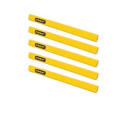 Carpenter Pencil, Yellow (5-Pack)
