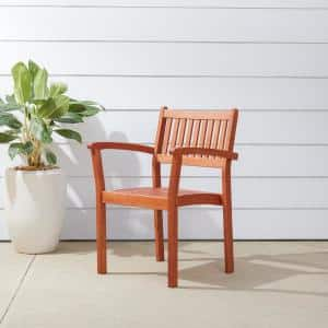 Malibu Stacking Wood Outdoor Dining Chair (4-Pack)