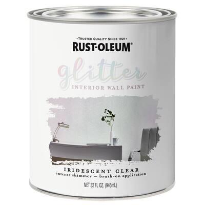 1 qt. Iridescent Clear Glitter Interior Paint (2-Pack)