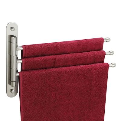 15 in. Stainless Steel Triple Swing Towel Bar in Satin Nickel