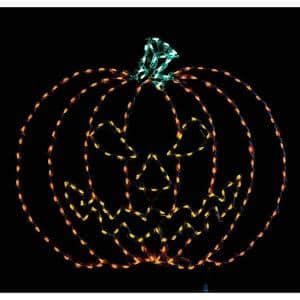 42 in. Halloween Giant Spooky Pumpkin with LED Light