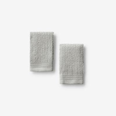 Green Earth Quick Dry Vapor Solid Cotton Wash Cloth (Set of 2)