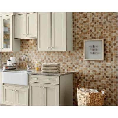 Rio Mesa Desert Sand 12 in. x 12 in. x 6 mm Ceramic Mosaic Floor and Wall Tile (1 sq. ft./Each)